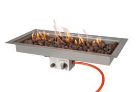 Easyfires Inbouwbrander lang rechthoek