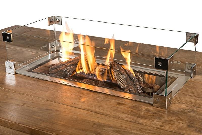 Happy Cocooning Glazen ombouw voor inbouwbrander rechthoek groot