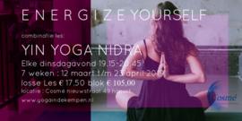 Yin Yoga evt . gecombineerd met Yoga Nidra