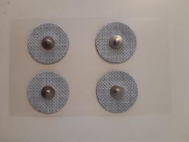Electrode (gel pads), niet geweven, snap, rond, Ø32mm, voor gezicht, per 4 stuks