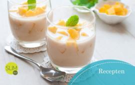 Vanille-mango toetje voor als tussendoortje
