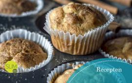 Heerlijke muffins vanuit de basis van een SLIMdiet broodzakje vanaf stap 1.
