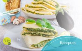 Pannenkoek ham kaas met spinazie, aubergine en champignons vanaf stap 1