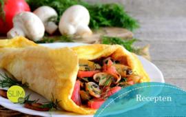 Recept omelet ham met champignons en tomaat, vanaf stap 1