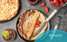 Een heerlijke vanille chocolade pannenkoek, vanaf stap 1