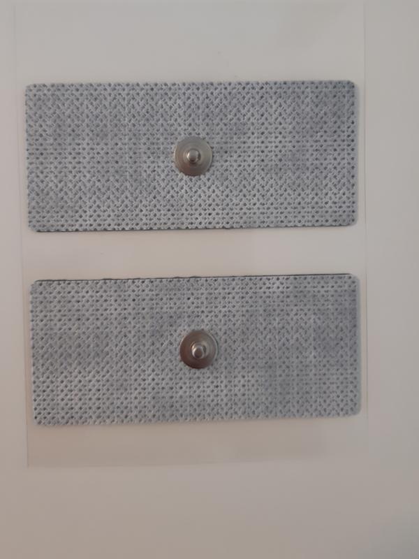 Electrode (gel pads), niet geweven, snap,  voor lichaam 90 x 40mm, per 4 stuks