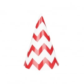Party hat chevron red