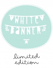Limited edition: Letter garland white