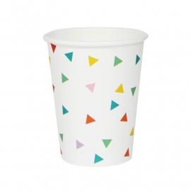 Paper cups multicolor
