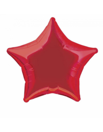 Folieballon ster  50 cm | Rood