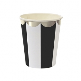 Paper cups black striped