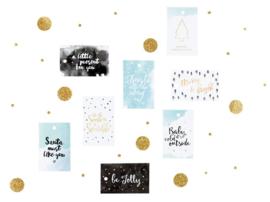 Kado labels set van 8 - Kerst