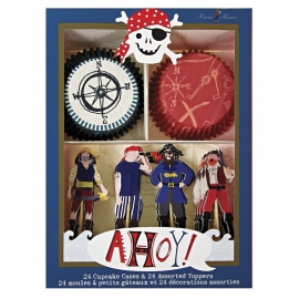 Ahoy piraten cupcake kit