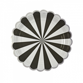 Paper plates black stripes