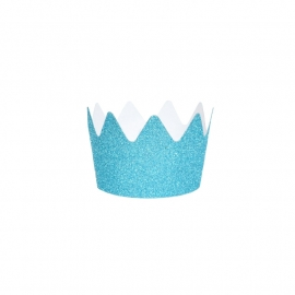 Glitter crown blue