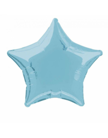 Foil Star balloons 50 cm | Light blue