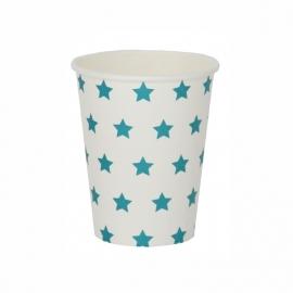 Paper cups blue stars
