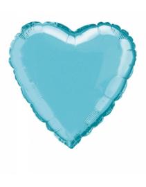 Folieballon hart  45 cm | Licht blauw