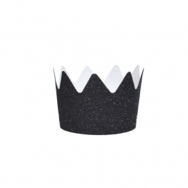 Glitter crown black