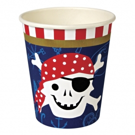 Ahoy pirate party cups