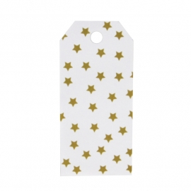 Gift tag golden stars