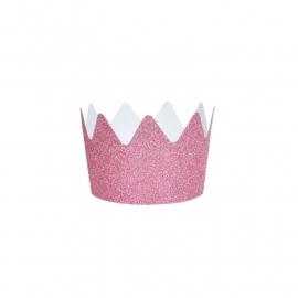 Glitter crown pink