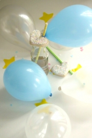 Mini tiny pastel pearl balloons - blue