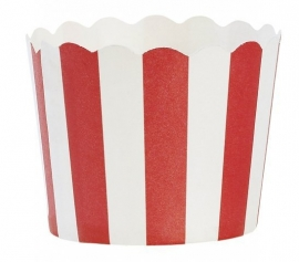 Baking cup red & white striped