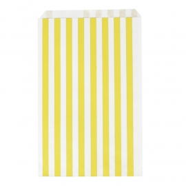 Party gift bags yellow striped