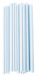 Paper drinking straws turquoise