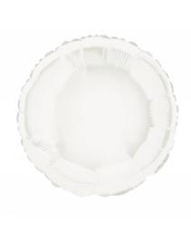 Folieballon rond  45 cm | Wit