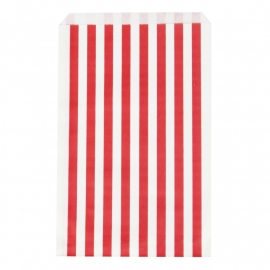 Party gift bags red striped