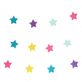 Star rainbow garland