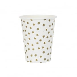Paper cups golden stars