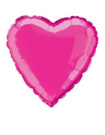 Folieballon hart  45 cm | Hot pink