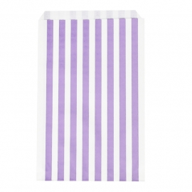 Party gift bags purple striped