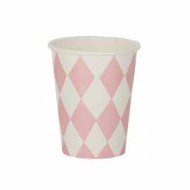 Paper cups light pink diamond