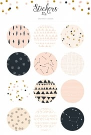 Sticker set pattern