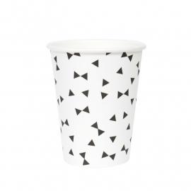 Paper cups black tie