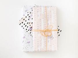 Inpakpapier set van 3 | Lovely blush