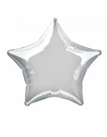 Folieballon ster  50 cm | Zilver