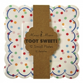 Toot Sweet spotty bordjes (klein)