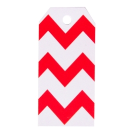 Gift tag chevron red