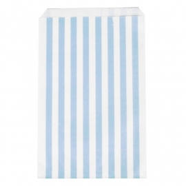 Party gift bags light blue striped