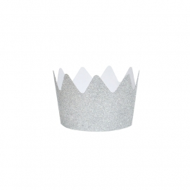 Glitter crown silver