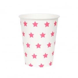 Papieren bekers roze sterren