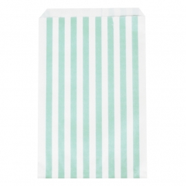 Party gift bags aqua striped