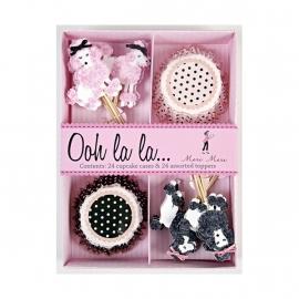 Poodle cupcake kit
