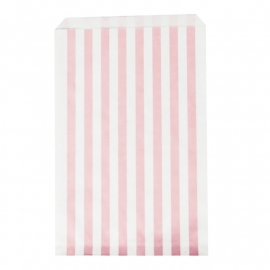 Party gift bags pink striped