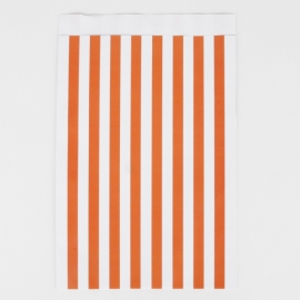 Party gift bags orange striped